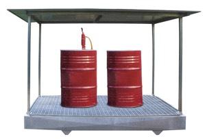 Bacino per contenitori liquidi infiammabili